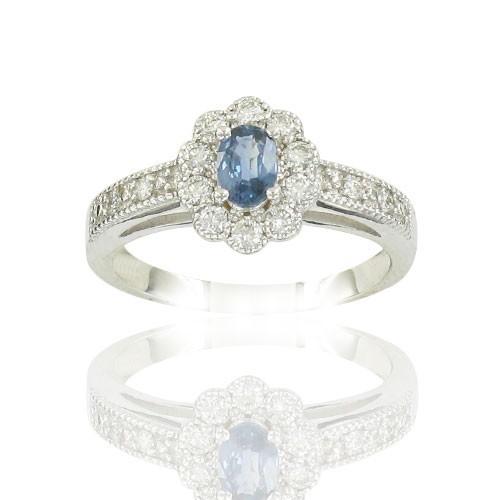 Fleur Saphir & Diamants