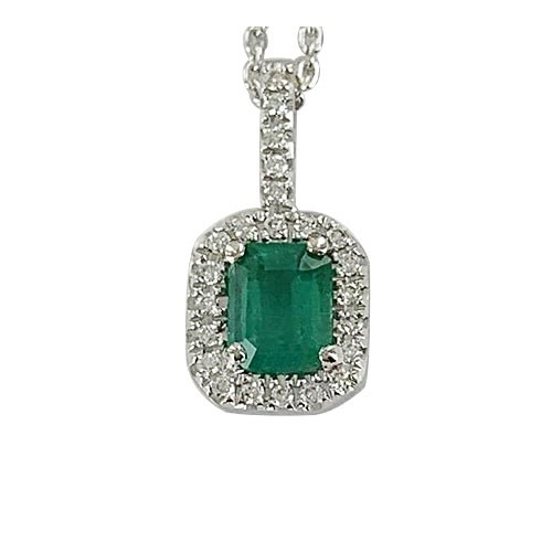 Emeraude entourage diamants