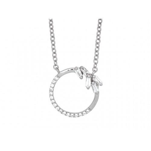 Cercle diamants ronds & baguettes
