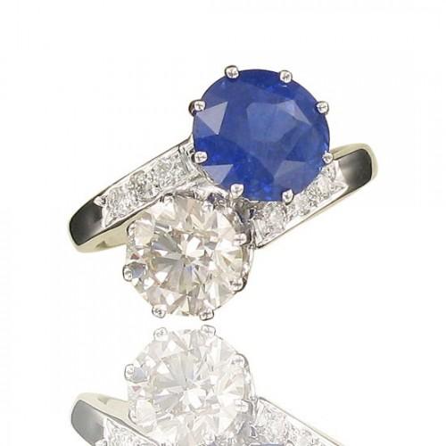 Toi & Moi Saphir et Diamants