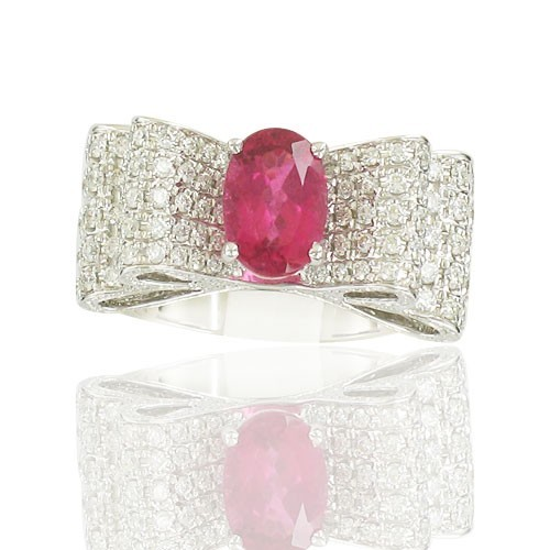 Tourmaline Rose & Diamants